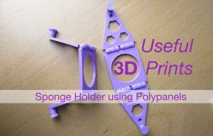 Useful 3D Print Kitchen Sponge Hook